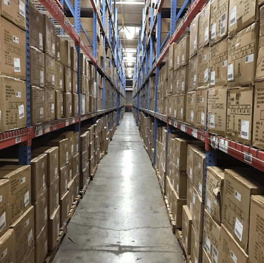 An isle of boxes.